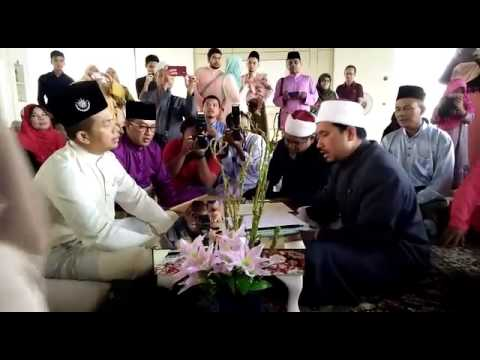 Aku terima nikah..Lafaz Ijab & Kabul - Masjid Tuanku Mizan PutraJaya
