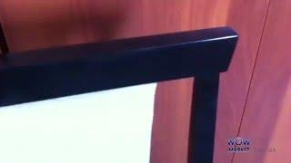 Обзор стула Чумак из натурального дерева в цвете венге от интернет-магазина Wowmarket.com.ua