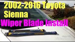 2002-2016 Sienna Windshield wiper replacement