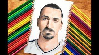 Zlatan Ibrahimovic drawing in LA Galaxy .... 2018
