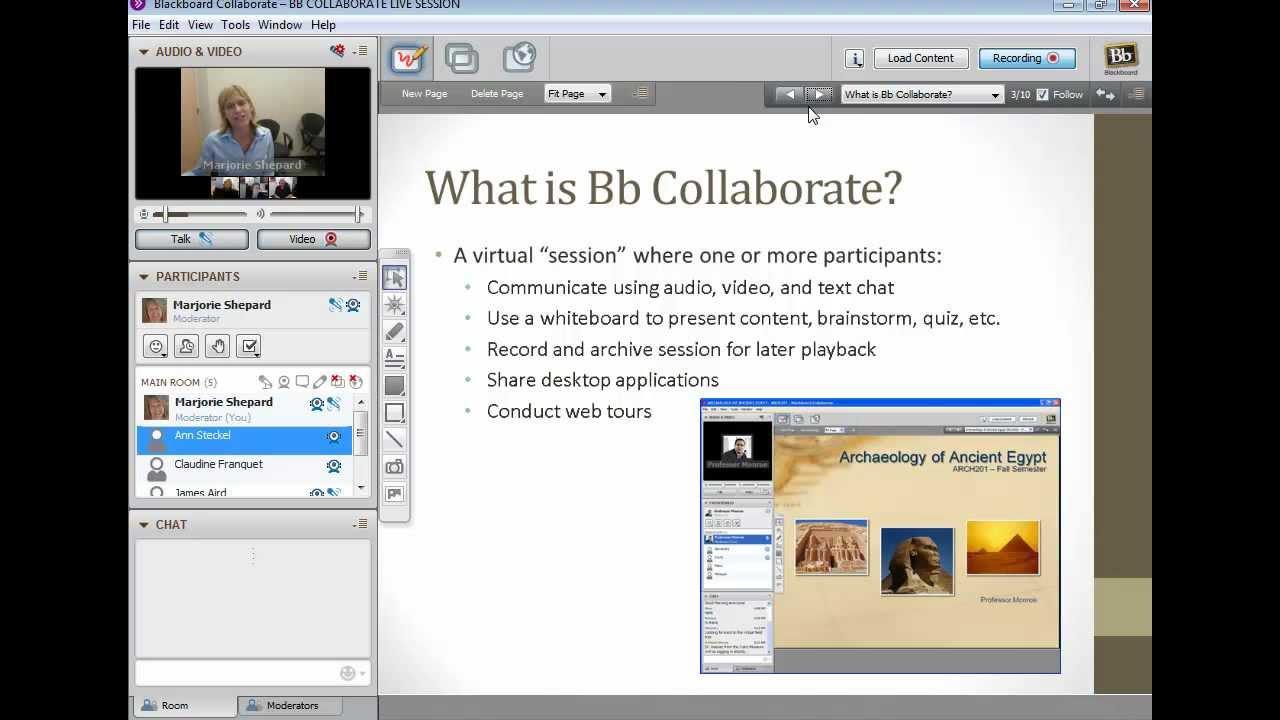 Bb Collaborate Demo - YouTube