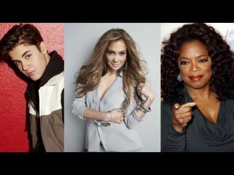 Forbes 2012 - Jennifer Lopez, Justin Bieber Top Celebrity 100 List!