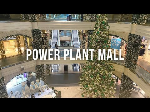 4K] Power Plant Mall   Rockwell Center Christmas Walk | Makati