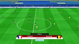 PES | FRANCE vs BELGIUM FIFA World Cup 2018 | Full Match | amazing goals | Gameplay PC