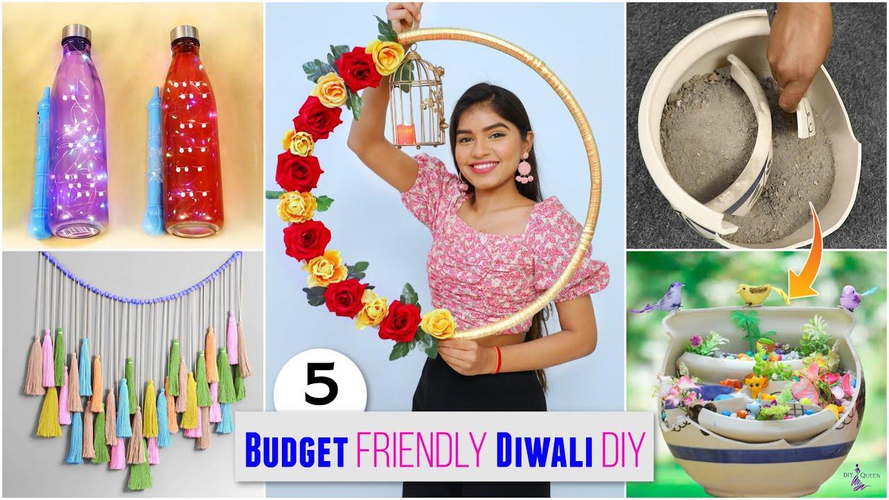 5 Budget Friendly DIWALI Home Decor Ideas | DIYQueen