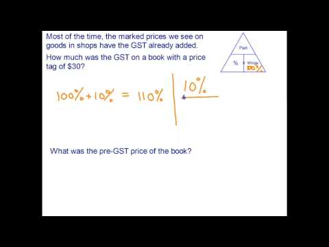 12. Financial Maths - Goods and Services Tax (GST)
