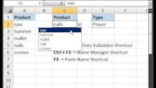 Create a Drop Down Menu with Data Validation in Microsoft Excel