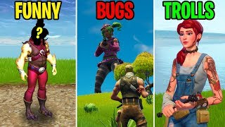 TENDER DEFENDER IS HERE! FUNNY vs BUGS vs TROLLS - Fortnite Funny Moments
