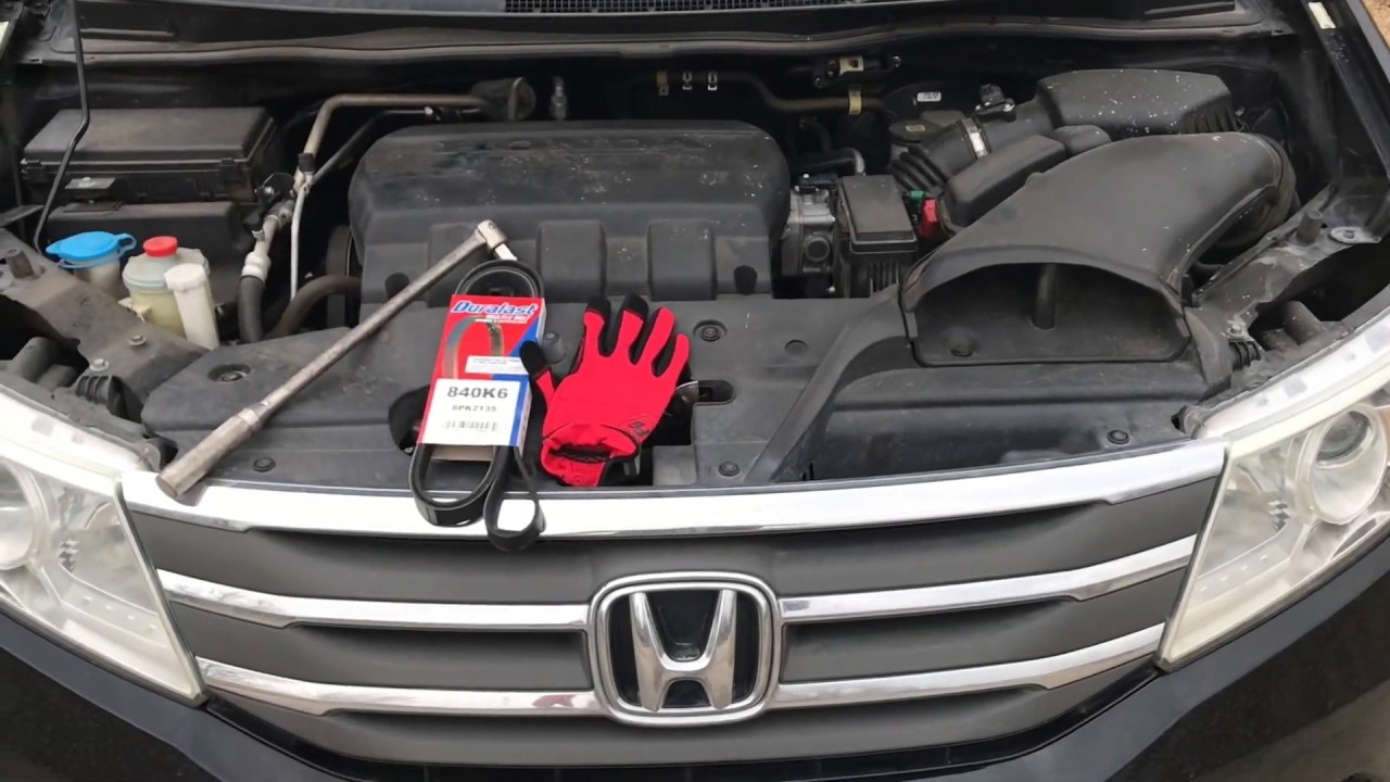Change the Serpentine Belt - 2013 Honda Odyssey - YouTubeYouTube