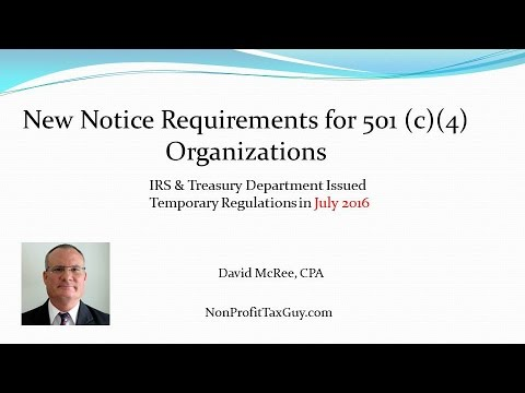 New Notice Requirements for 501 c 4 Organizations 2016
