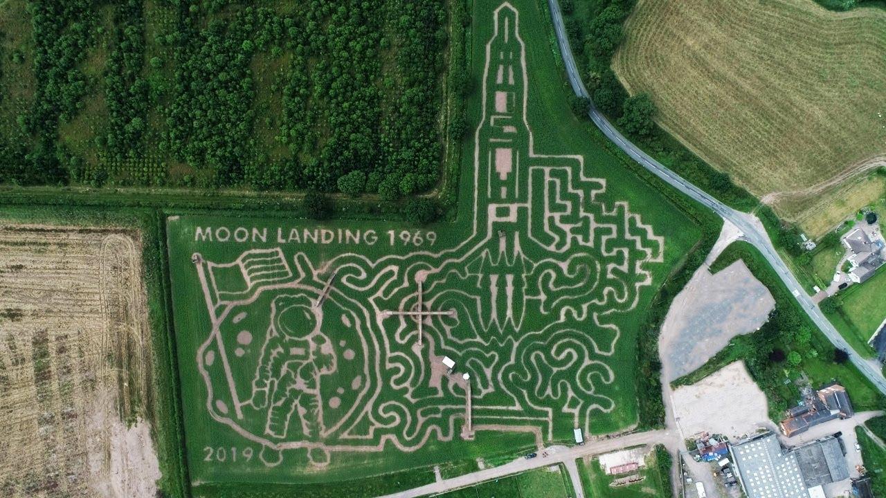 National Forest Adventure Farm 2019 Moon Landing Maize Maze Reveal Youtube