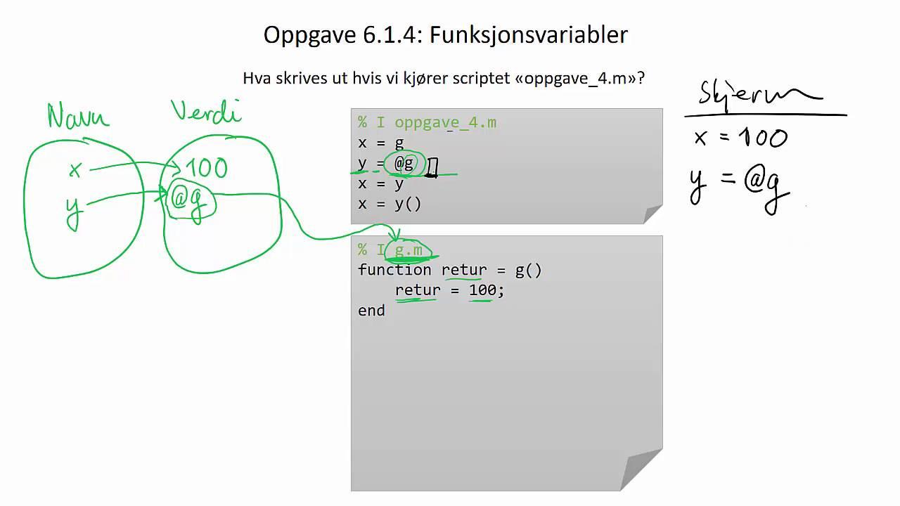 Oppgave 6.1.4: Funksjonsvariabler