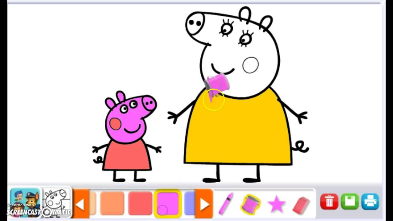 Coloring Games Peppa Pig Coloring Mama Pig HD Nick Jr Color ...