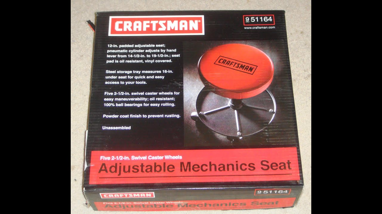 CRAFTSMAN Adjustable Mechanicu0027s Seat My Review & CRAFTSMAN: Adjustable Mechanicu0027s Seat My Review - YouTube islam-shia.org