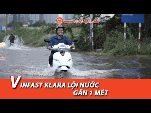 Xe máy điện VinFast Klara lội nước gần 1 mét và cái kết