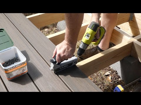 Tips and Tricks for Trex Composite Deck Install with Camo Marksman Tool and Screws