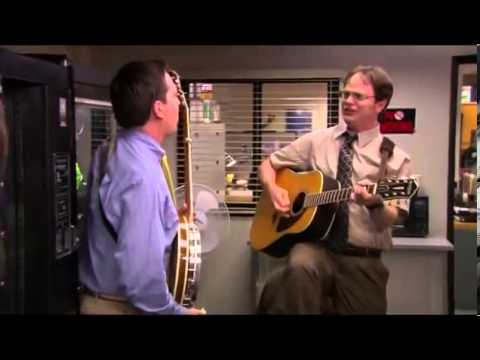 The Office - Country Roads with Andy and Dwight - YouTube