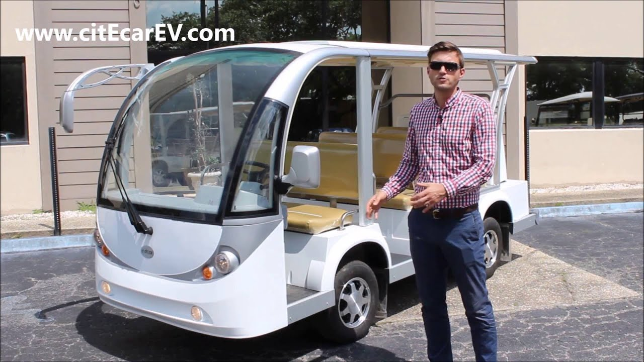 Nine Penger Electric Shuttle And People Mover From Bintelli Vehicles