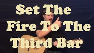Set The Fire to the Third Bar (Snow Patrol) Easy Strum Guitar Lesson Licks TAB How to Play Tutorial