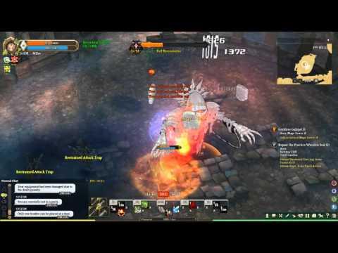 Tree of Savior - Pyromancer C3 vs Evil Necroventer (Level 90 instance boss)