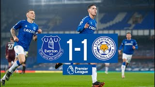 EVERTON 1-1 LEICESTER CITY | PREMIER LEAGUE HIGHLIGHTS