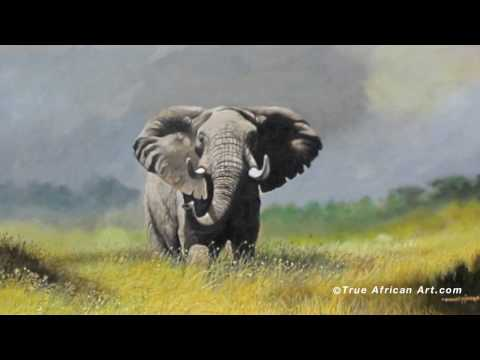 African Wildlife Painter Daniel Njoroge | True African Art.com