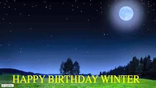 Winter  Moon La Luna - Happy Birthday