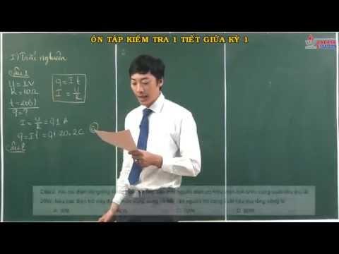 Bài giảng vật lý 11 - Dòng điện không đổi - Ôn tập kiểm tra 1 tiết - Kiểm tra giữa kỳ 1