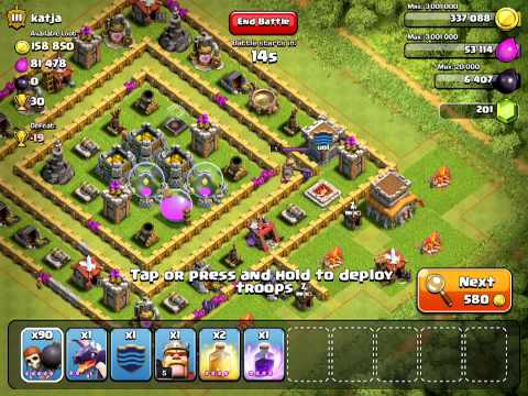 Clash Of Clans - 90 Level 5 Wall Breaker Attack - #5