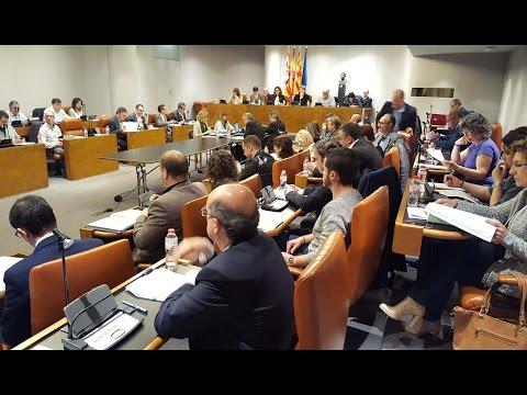 Ple Diputació de Barcelona ordinari d'abril 2016