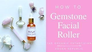 How To:  Rose Quartz Roller - The Organic Esthetician X Argan Republic