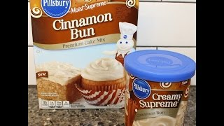 Making A Pillsbury Cinnamon Bun Cake