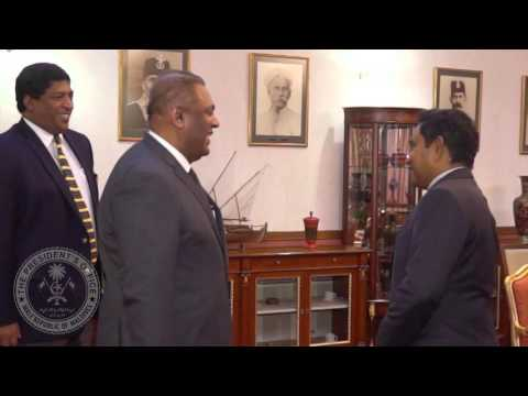 Sri Lankan Foreign Minister and Minister of Finance Calls on the President