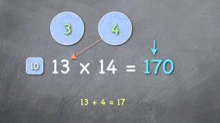 How to multiply teen numbers