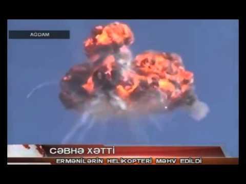 Азербайджан показывает вертолет в Сирии как сбитый армянский Ми-24