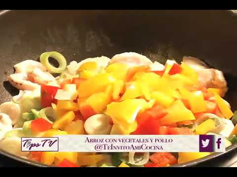 Arroz con Vegetales y Pollo