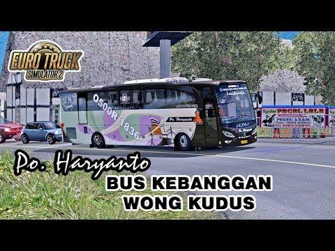 Haryanto Mania Wajib Tonton !!! Mencoba Bus Terbaru Po Haryanto Pariwisata Mercedes Benz O500R 1836 - 동영상