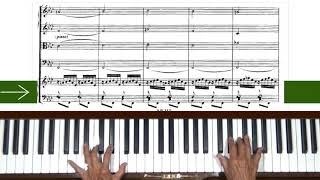 Bach Harpsichord Concerto No. 5 in F minor BWV 1056 Prelude Piano Tutorial Sped