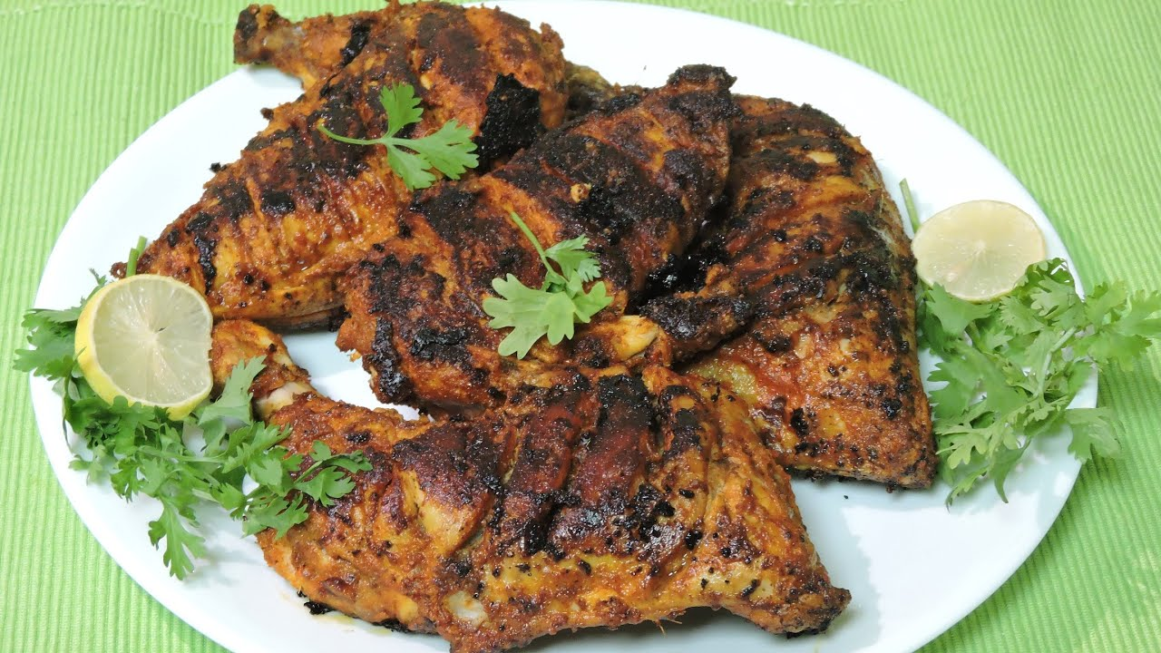 tandoori chicken without oven recipe in malayalam - YouTube