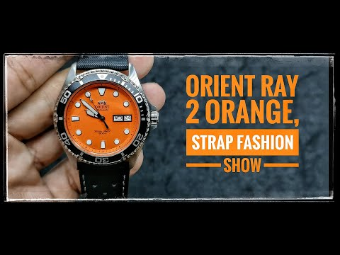 1 Watch, 5 Looks: Orient Ray 2 Orange straps fashion show #orient #orientray2