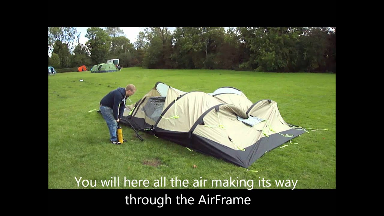 Kampa Air-Frame Southwold 4+2 Inflation Video - YouTube