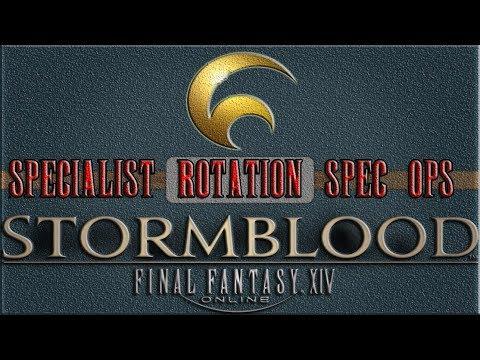 Final Fantasy XIV Stormblood Ultimate LV 70 ★★ 100% HQ Specialist Rotation  Spec Ops