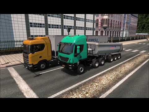 Ets2 GREEK Iveco Trakker & Freightliner FLB South Africa Trucks Tribute Pt2