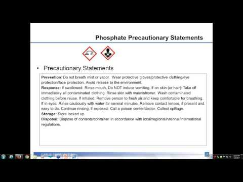 Safety and Handling of Phosphates