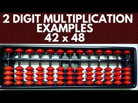 2 Digit * 2 Digit More Examples || 42 X 48 Multiplication On Abacus