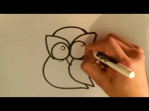 Easiest Way to Draw an Owl - Owl Drawings