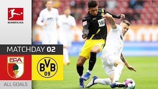 #fcabvb | highlights from matchday 2!► sub now: https://redirect.bundesliga.com/_bwcs watch all goals of fc augsburg vs. borussia dortmund 2 of...