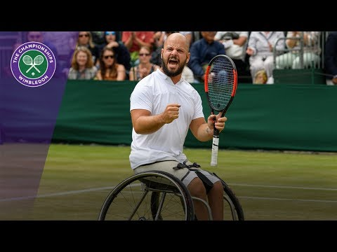 Stefan Olsson victorious in Wimbledon 2017 gentlemen's wheelchair singles