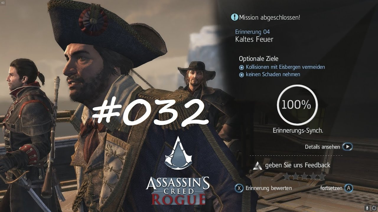 ASSASSIN\'S CREED ROGUE S6 E4 [ 100% SYNC ] #032 - kaltes feuer ...
