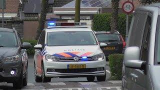 Prio 1 Politie met spoed naar verschillende meldingen in Beuningen